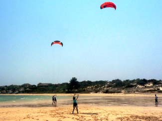 kitesurfing teaching